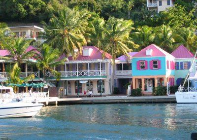 Tortola Waterfront, Colonial Houses, British Virgin Islands, Caribbean