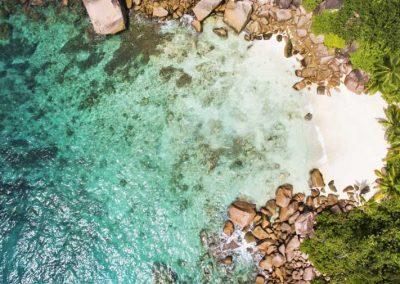 Curieuse Island Seychelles, Aerial, Sailing Holidays