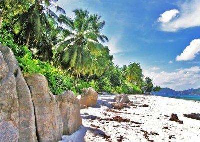 Therese Island Beach and Rocks, Seychelles